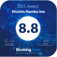 2015 Awrad Winner Nissin Namba Inn 8.8 Booking.com